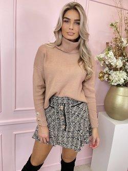 Sarah col sweater camel