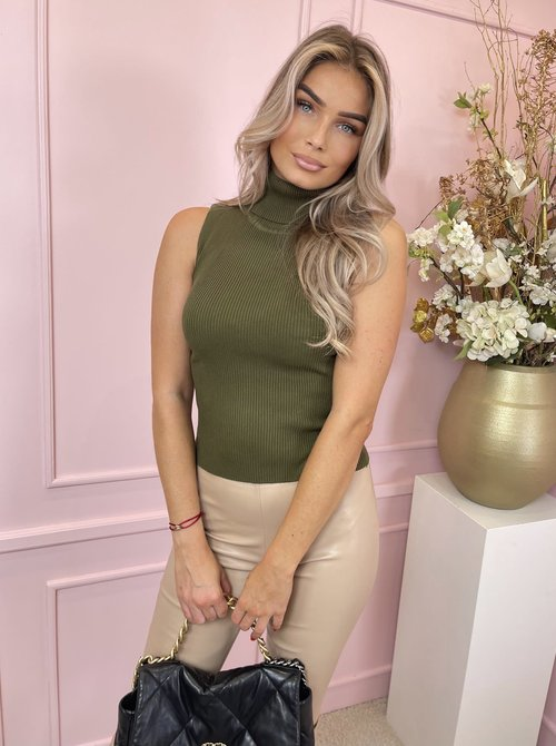 Col top forest green