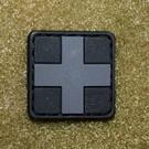 EMT Kruis markeringspatch klein zwart/grijs