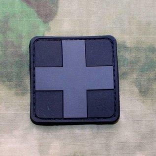 EMT Red cross marker patch large black
