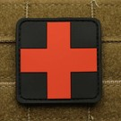 EMT Red cross marker patch large black/red