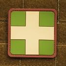 EMT Red cross marker patch large multicam