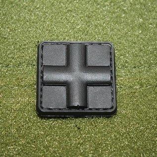 EMT Kruis markeringspatch klein zwart/zwart