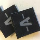 Apatch Bloedgroep patch grijs zwart A-