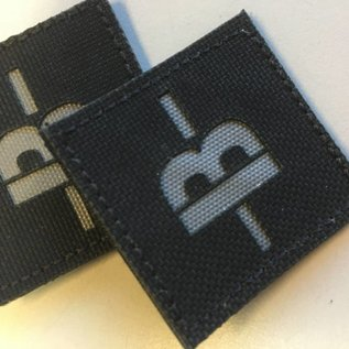 Apatch Blood type patch grey black B-