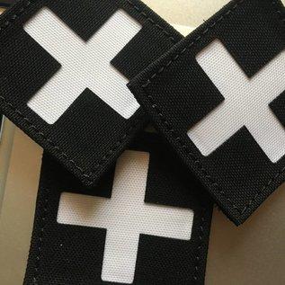 Apatch Kruis patch zwart wit