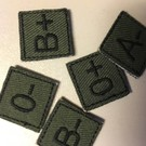 EMT Mini bloedgroup patch green O-