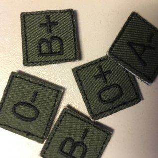 EMT Mini bloedgroep patch groen O-