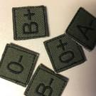 EMT Mini bloedgroep patch groen AB-
