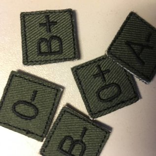 EMT Mini bloedgroep patch groen AB+