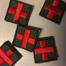 EMT Mini cross patch black red