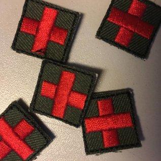 EMT Mini kruispatch olive rood
