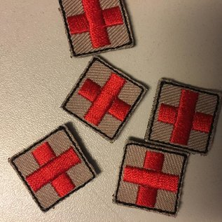 EMT Mini cross patch white red