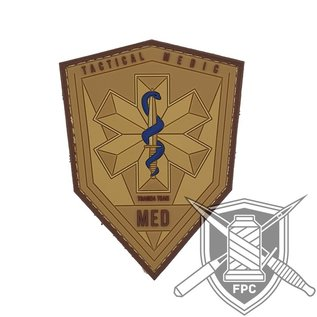 EMT Tactical medic patch  tan