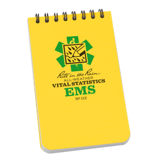 Rite in the rain Top spiral EMS vital stats notebook