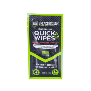 Breakthrough Multi purpose quick wipes single pack