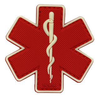 EMT Star of life patch pvc small