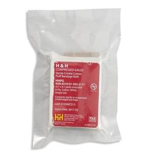 H&H Compressed sterile gauze