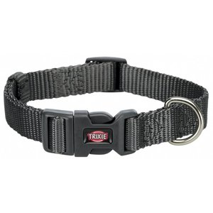 Premium Halsband M-L  graphit