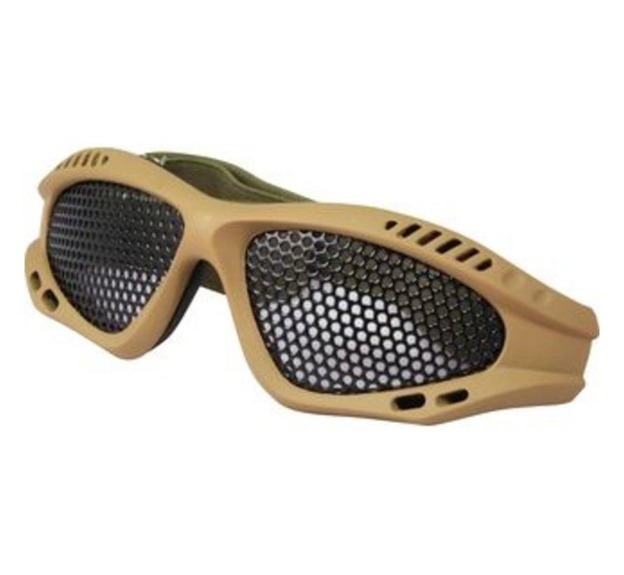 Taktische Gitterbrille - Coyote