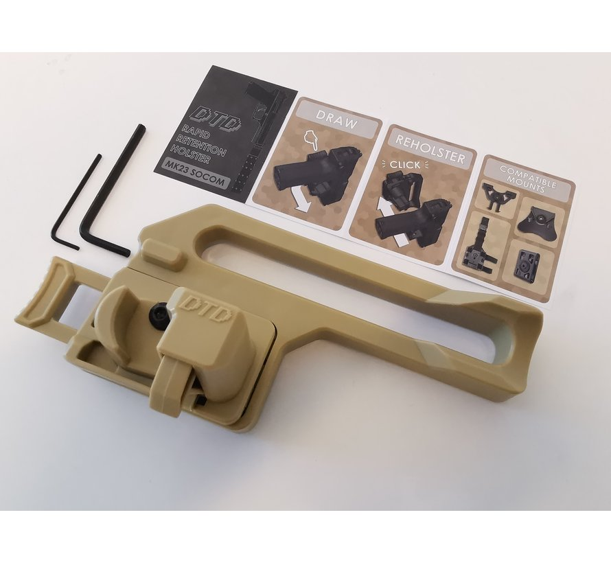 MK23 Retention Holster - TAN