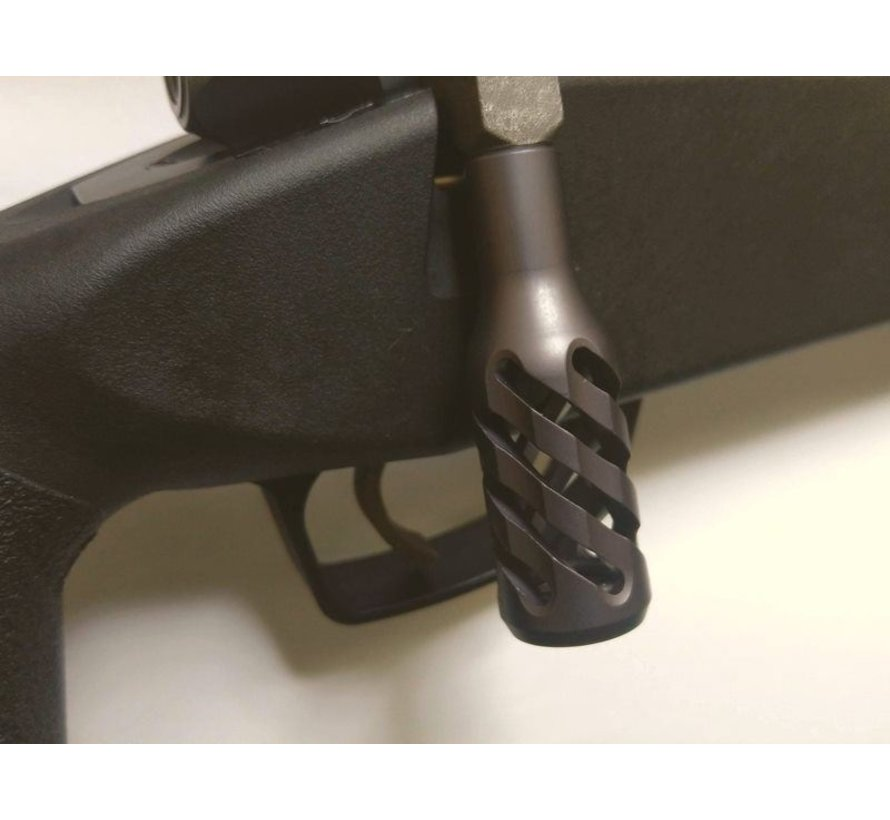 """""""Twisted Hollow"""" full Steel Bolt Handle and endcap  for VSR10"""