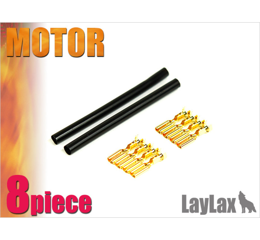 Gold Pin Motorstecker Set x8