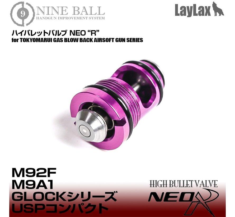 High Bullet Ventil NEO R für TM  M9A1 / M92F / Glock