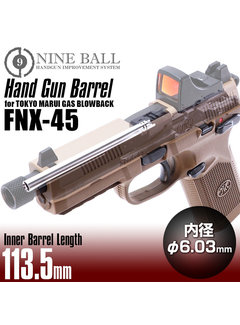 Nine Ball Gas Blowback TM FNX-45 HANDGUN BARREL 113.5mm
