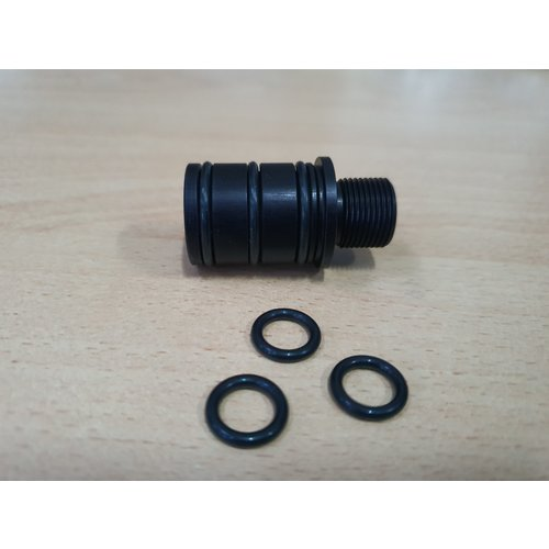 LeesPrecision CNC Machined 14mm CCW Thread Adapter For Silverback SRS Carbon Barrels