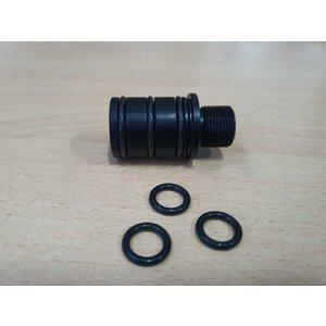 LeesPrecision CNC gefräster 16mm CW Gewindeadapter für Silverback SRS Carbon Läufe