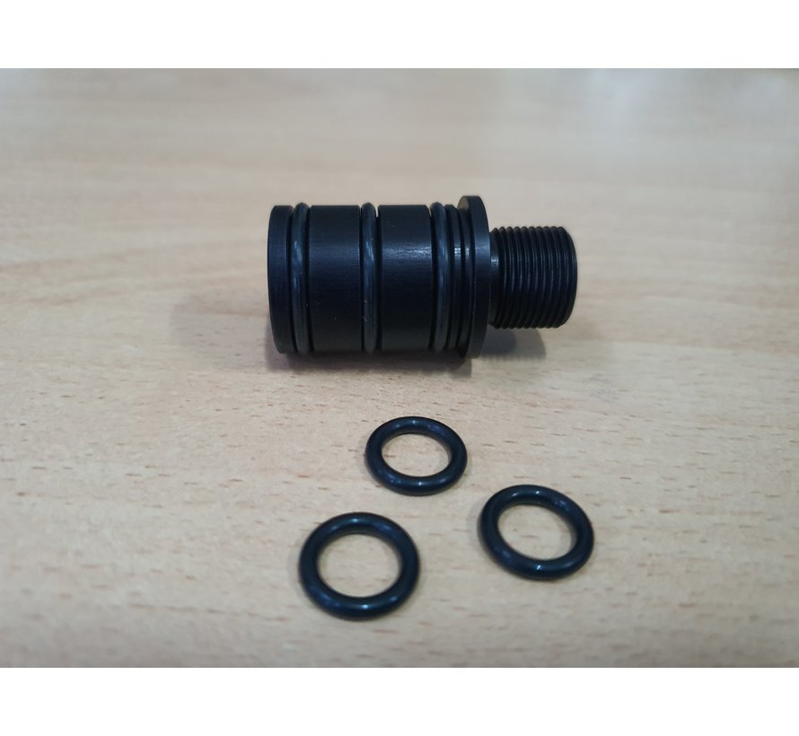 CNC gefräster 16mm CW Gewindeadapter für Silverback SRS Carbon Läufe
