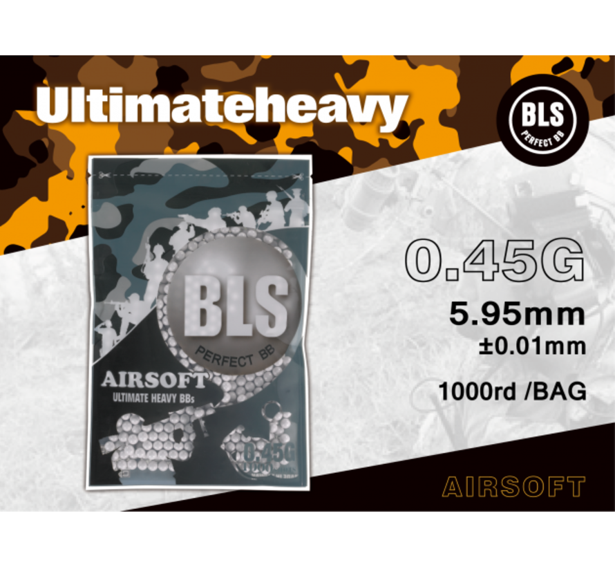 0,45 BIO Ultimate Heavy BBs 1000rds