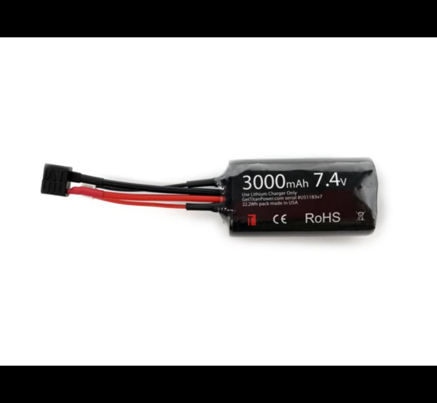 Lithium Ion 3000MaH 7,4v Brick T-Plug