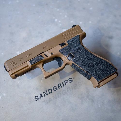 SandGrips Glock 19X More grip for your handgun