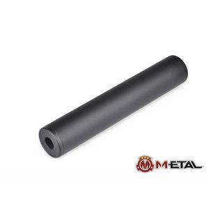 Metal 190x35mm Glatter Schallunterdrücker - Schwarz