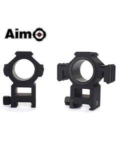 Aim-O Dreiseitige Schiene 25,4-30 mm Split Ringhalterung