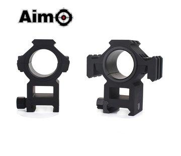 Aim-O Tri-Sided Rail 25.4-30mm Split Ring Mount