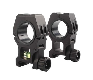 Aim-O M10 1 inch to 30mm Scope Rings With Level