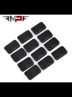 MP Type 2 M-LOK Rail Covers Black (12 pieces)