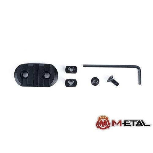 Metal 3-Slot M-LOK CNC Aluminum Rail rounded