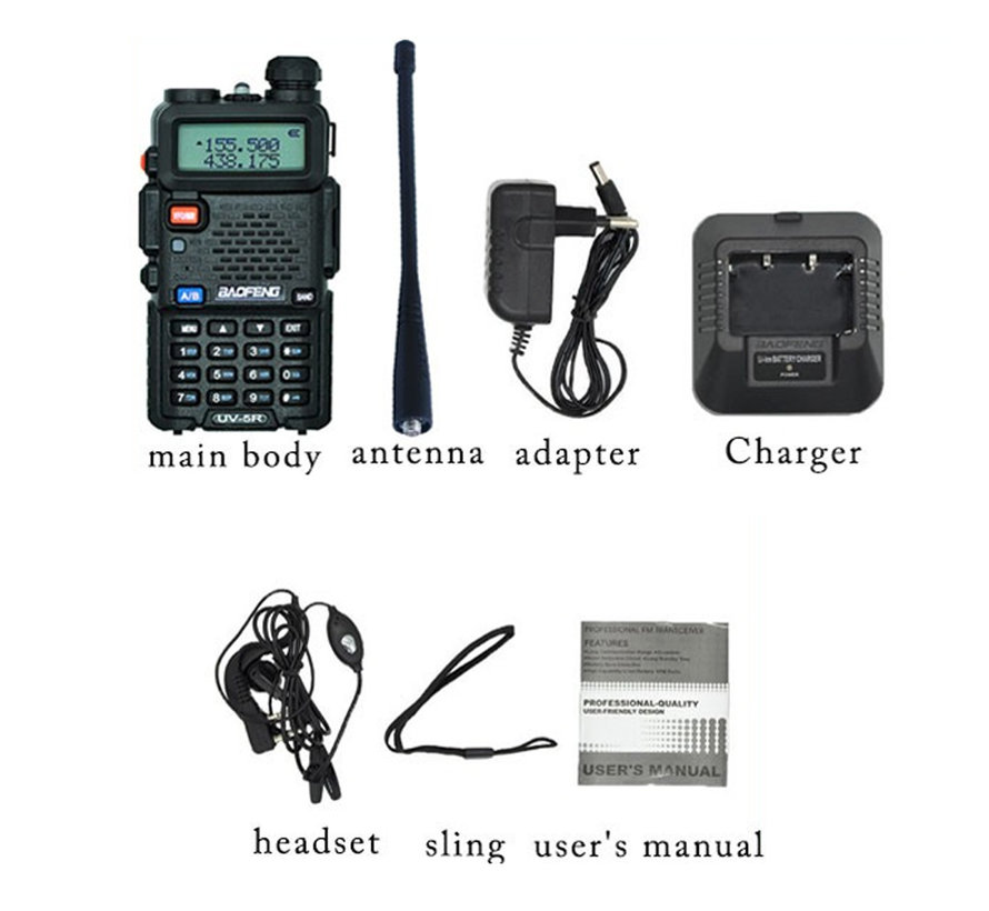 Uv5r Professional Two Way Radio Black