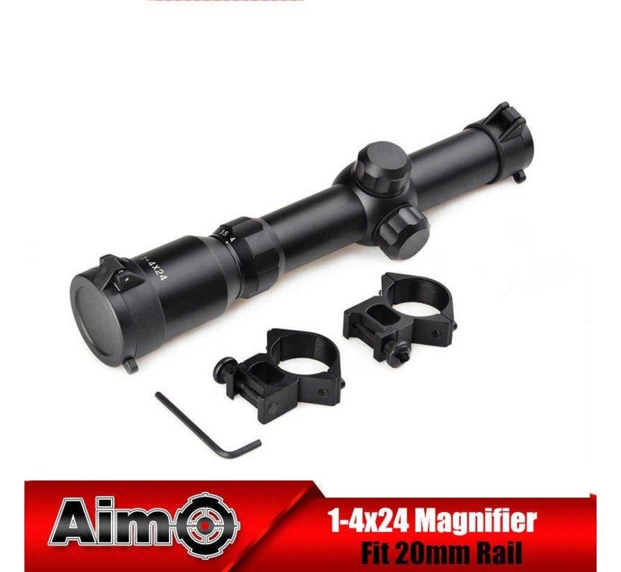 1-4x24 Tactical Scope Black