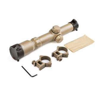 Aim-O 1-4x24 Tactical Scope Dark Earth