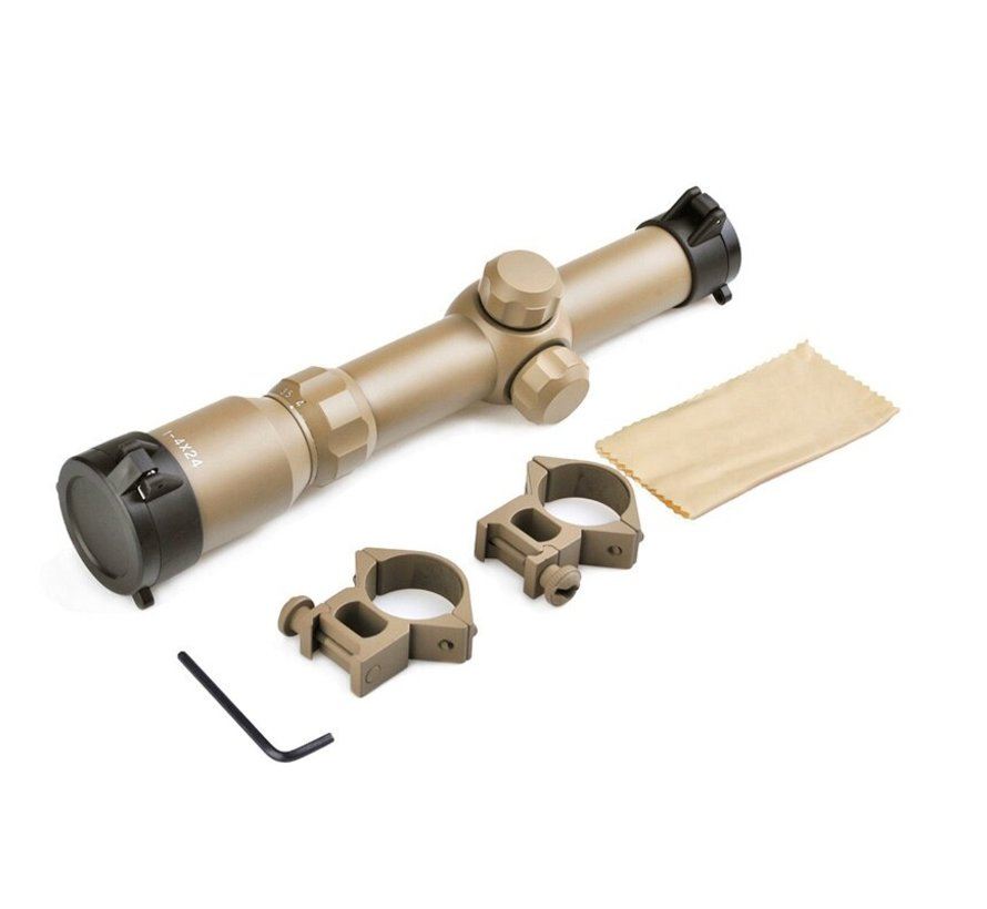 1-4x24 Tactical Scope Dark Earth