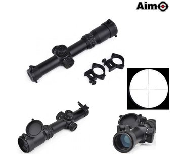 Aim-O 1-4x24SE Tactical Scope Black (red green reticle)