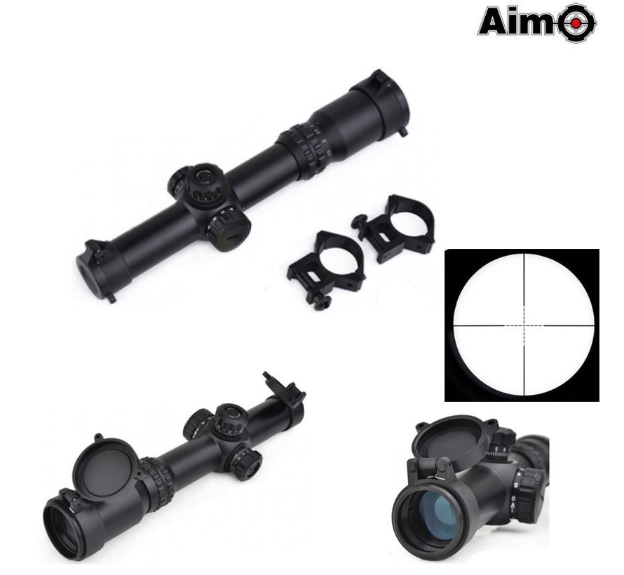 1-4x24SE Tactical Scope Black (red green reticle)