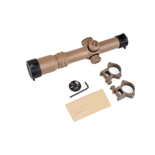 Aim-O 1-4x24SE Tactical Scope Dark Earth (red green reticle)