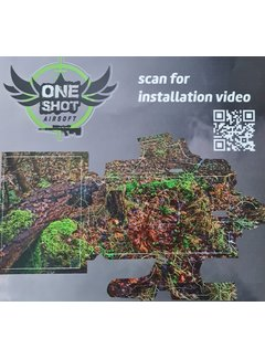 One Shot Airsoft Gun Skin action army AAP01 Stealth Recon Oak