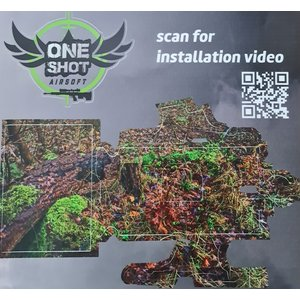 One Shot Airsoft Gun Skin AAP01 Stealth Recon Oak